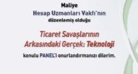 """Panel """"Ticaret Savaşlarının Arkasındaki Gerçek:TEKNOLOJİ"""""""
